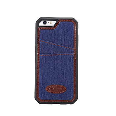 Pentru Titluar Card / Anti Șoc Maska Carcasă Spate Maska Culoare solida Moale Textil pentru Apple iPhone 6s Plus/6 Plus / iPhone 6s/6