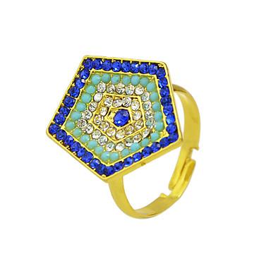 عصابة فضفاض مجوهرات سبيكة نساء خاتم 1PC,8 ذهبي