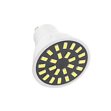 gu10 led spotlight g50 24dla smd 5733 350lm-400lm ciepły biały zimny biały dekoracyjny ac110 ac220v