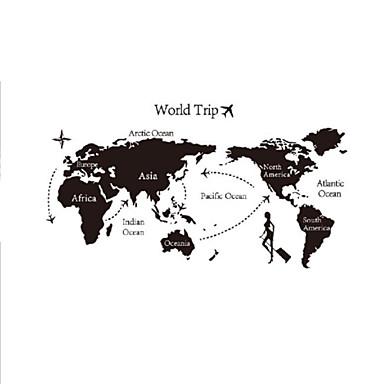 milieu uitneembare de kaart van de wereld pvc muursticker