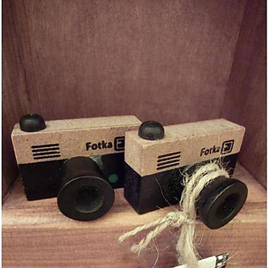 vintage patroon houten camera stempel (willekeurige kleuren)