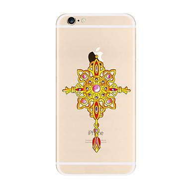 Etui Käyttötarkoitus Apple iPhone X iPhone 8 Plus iPhone 7 iPhone 6 iPhone 5 kotelo Läpinäkyvä Kuvio Takakuori Uni sieppari Pehmeä TPU