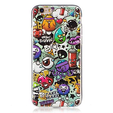 Pouzdro Uyumluluk Apple iPhone 5 Kılıf iPhone 6 iPhone 7 Karanlıkta Parlayan IMD Arka Kapak Karton Yumuşak TPU için iPhone 7 Plus iPhone