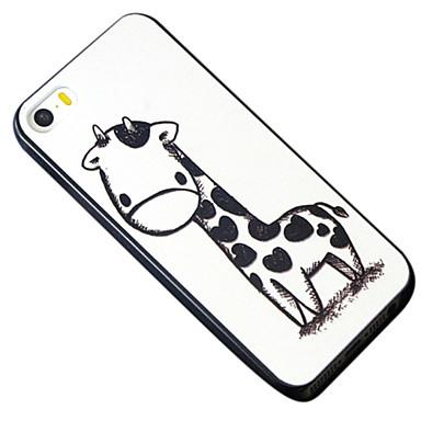 Για Θήκη iPhone 5 Με σχέδια tok Πίσω Κάλυμμα tok Ζώο Σκληρή PC iPhone SE/5s/5