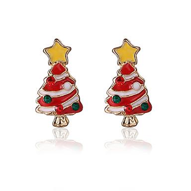 Cercei Stud Chrismas Cute Stil Aliaj Roșu/alb Bijuterii Pentru Petrecere Zilnic Cadouri de Crăciun 1 pereche
