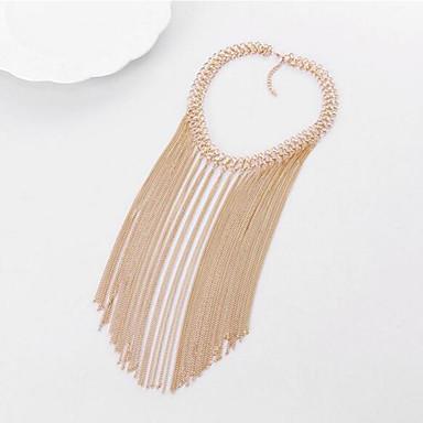 Pentru femei Line Shape Formă Ciucure Multistratificat Modă European Coliere Choker Bijuterii Aliaj Coliere Choker Petrecere Zilnic Casual