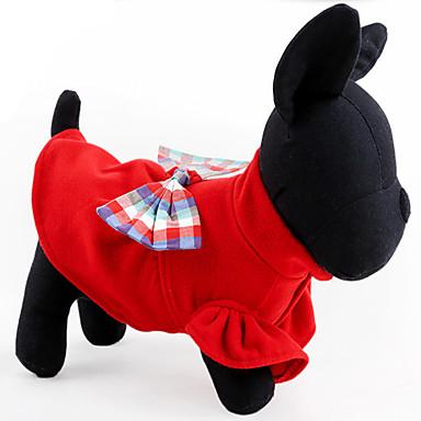 Köpek Elbiseler Köpek Giyimi Günlük/Sade Sıcak Tutma Fiyonk Düğüm Koyu Mavi Kırmzı