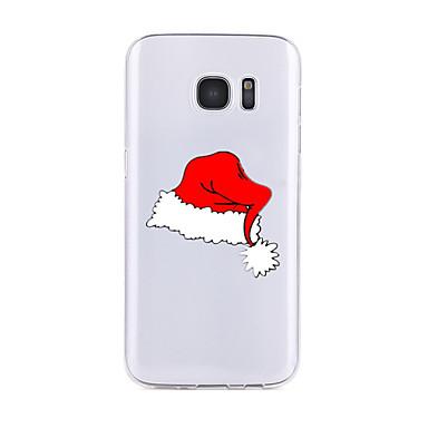 Etui Käyttötarkoitus Samsung Galaxy S7 edge S7 Läpinäkyvä Kuvio Takakuori Joulu Pehmeä TPU varten S7 edge S7 S6 edge plus S6 edge S6 S6