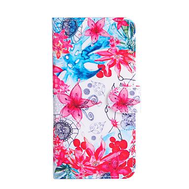 Кейс для Назначение Apple iPhone 6 iPhone 6 Plus Бумажник для карт Кошелек со стендом Флип Чехол Цветы Твердый Кожа PU для iPhone 6s Plus