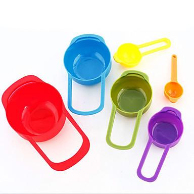 6 zestawów kolorów dozującego łyżka kuchni metr