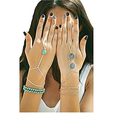 Pentru femei Turcoaz / Aliaj Brățări cu Talismane / Ring Bracelets - Design Unic / Modă / Confecționat Manual Argintiu / Bronz / Auriu