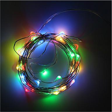 Taśmy świetlne RGB 50 Diody LED Ciepła biel RGB Biały Zielony Niebieski Czerwony Dekoracyjna