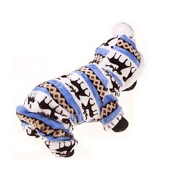 Pies Bluzy z kapturem Kombinezon Ubrania dla psów Oddychający Zatrzymujący ciepło Sportowe Kwiatowy/roślinny Niebieski Kostium Dla