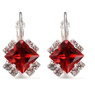 Kadın's Damla Küpeler Kristal alaşım Geometric Shape Mücevher Parti