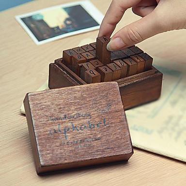 28pcs Hölzern Holz Party Büro / Geschäftlich Briefmarken Schreibblöcke