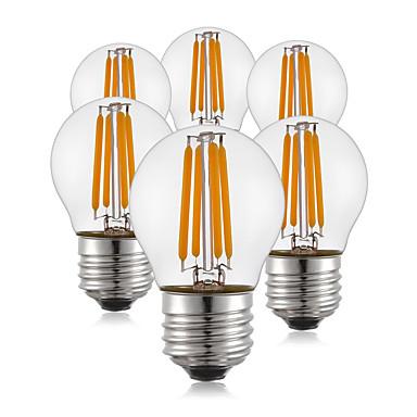 KWB 6szt 400 lm E26/E27 Żarówka dekoracyjna LED G45 4 Diody lED COB Ciepła biel AC 220-240 V