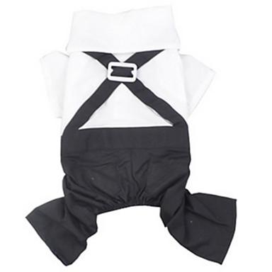 Koira Asut Koiran vaatteet Rento/arki Rusetti Musta