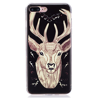 Uyumluluk iPhone 7 iPhone 6 iPhone 5 Kılıf Kılıflar Kapaklar Karanlıkta Parlayan IMD Arka Kılıf Pouzdro Hayvan Yumuşak TPU için Apple