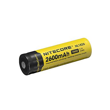 nitecore nl1826 2600mAh ل3.7V 9.6wh 18650 ليثيوم أيون قابلة للشحن