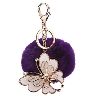 Piłeczki Brelok do kluczy Zabawki Brelok do kluczy Kula Motyl Metal Plusz 1 Sztuk Dla dziewczynek Boże Narodzenie Urodziny Walentynki