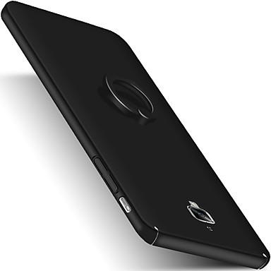 Için Satandlı Yüzüklü Tutacak Buzlu Pouzdro Arka Kılıf Pouzdro Solid Renkli Sert PC için OnePlus One Plus 3 One Plus 3T