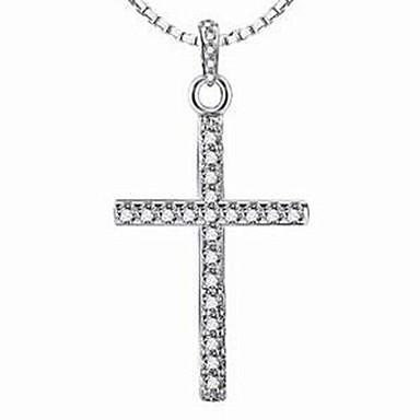 Damskie Naszyjniki z wisiorkami Biżuteria Srebro standardowe Klasyczny Biżuteria Na Casual