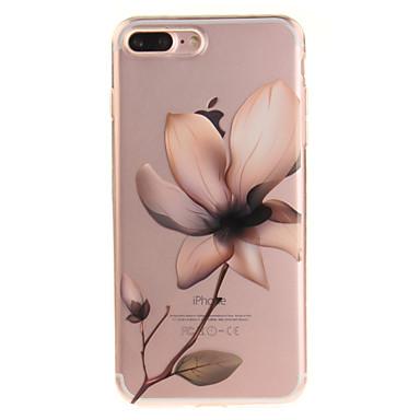 Pouzdro Uyumluluk Apple iPhone 8 iPhone 8 Plus IMD Şeffaf Temalı Arka Kapak Çiçek Yumuşak TPU için iPhone 8 Plus iPhone 8 iPhone 7 Plus
