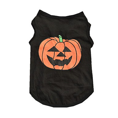 Chien Tee-shirt Gilet Vêtements pour Chien Décontracté / Quotidien Halloween Potiron Noir Costume Pour les animaux domestiques