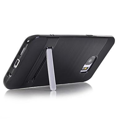 غطاء من أجل Samsung Galaxy S7 edge S7 مع حامل غطاء خلفي لون الصلبة قاسي الكمبيوتر الشخصي إلى S7 edge S7