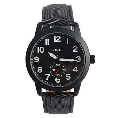 Bărbați Ceas La Modă Ceas Sport Quartz / PU Bandă Casual Negru