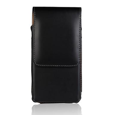estojo de couro pu superfície de luz de cor sólida com grampo cintura para nokia Lumia 630/635