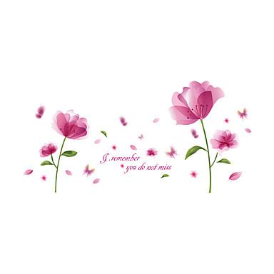 Romantic Florale Botanic Perete Postituri Autocolante perete plane Autocolante de Perete Decorative, Vinil Pagina de decorare de perete