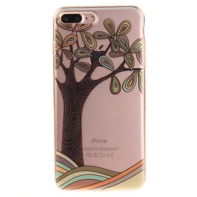 Varten IMD Läpinäkyvä Kuvio Etui Takakuori Etui Puu Pehmeä TPU varten AppleiPhone 7 Plus iPhone 7 iPhone 6s Plus/6 Plus iPhone 6s/6