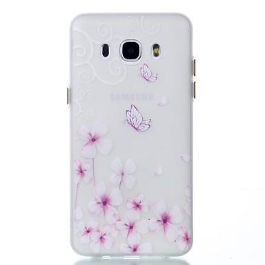 Pentru Carcase Huse Stralucire in intuneric Carcasă Spate Maska Fluture Moale TPU pentru Samsung Galaxy J5 (2016) J3 J3 (2016)