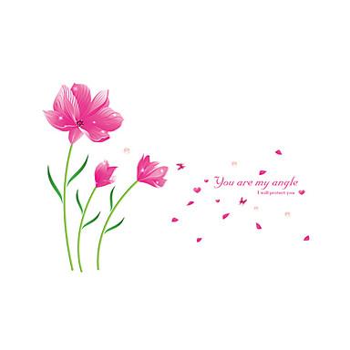 Romantizm Çiçekler Botanik Duvar Etiketler Uçak Duvar Çıkartmaları Dekoratif Duvar Çıkartmaları, Vinil Ev dekorasyonu Duvar Çıkartması