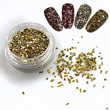 1bottle Biżuteria do paznokci / Zestawy do dekoracji Błyskotki / Streszczenie / Połyskujące Słodkie
