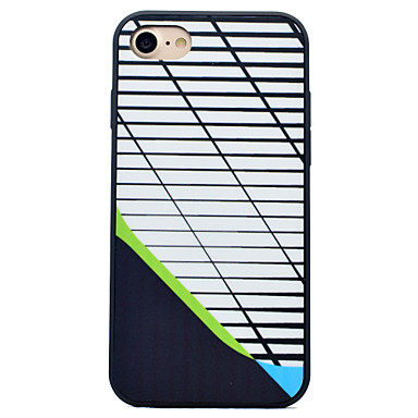 Uyumluluk iPhone 7 iPhone 7 Plus iPhone 6 Kılıflar Kapaklar Şoka Dayanıklı Temalı Arka Kılıf Pouzdro Çizgiler / Dalgalar Sert Silikon için