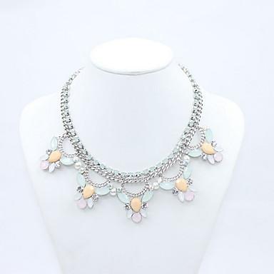 Γυναικεία Κολιέ Δήλωση Flower Shape Ακρυλικό Κράμα Φλοράλ Μοντέρνα Κοσμήματα Για Καθημερινά Causal