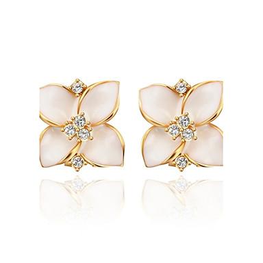 Damskie Kolczyki na sztyft Cyrkonia Luksusowy Europejski Cyrkon Imitacja diamentu Stop Biżuteria Codzienny Casual