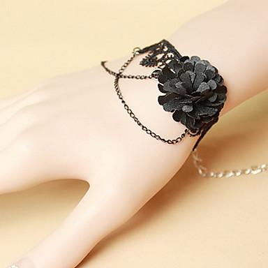 Naisten Rannekoru-sormukset Vintage Goottityyli Pitsi Flower Korut Halloween