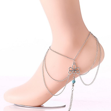 srebrne boso sandały damskie 1 pc