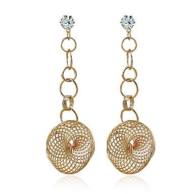 Bărbați Pentru femei Dame Cercei Dangle Diamant sintetic Bijuterii Statement Modă European Zirconiu Placat Auriu Bijuterii Pentru Nuntă