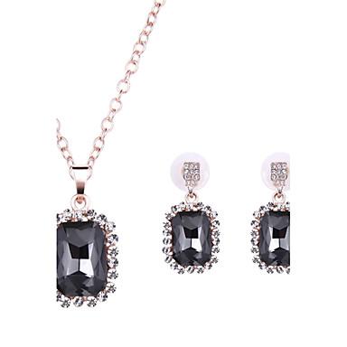 Γυναικεία Κρυστάλλινο Συνθετικοί πολύτιμοι λίθοι Κρύσταλλο Κράμα 1 Ζευγάρι σκουλαρίκια Κολιέ Για Γάμου Πάρτι Καθημερινά Causal Δώρα Γάμου