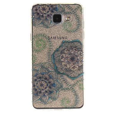 Için IMD Şeffaf Temalı Pouzdro Arka Kılıf Pouzdro Çiçek Yumuşak TPU için Samsung A5(2016) A3(2016) A5 A3