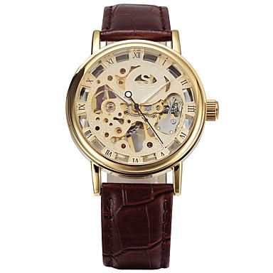 Bărbați Ceas Elegant Ceas La Modă Ceas Sport Mecanism automat Calendar Mare Dial Piele Autentică Bandă Lux Vintage Casual Multicolor