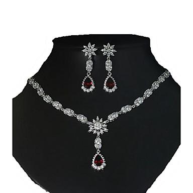 Damskie Zestawy biżuterii Europejski luksusowa biżuteria Cyrkon Cyrkonia Miedź 1 Naszyjnik 1 parę kolczyków NaŚlub Halloween Codzienny