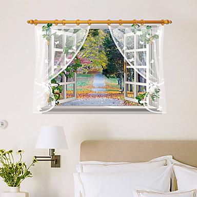 Modă Florale Peisaj Perete Postituri Autocolante perete plane 3D Acțibilduri de Perete Autocolante de Perete Decorative,Hârtie Material