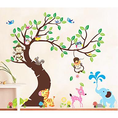 Zwierzęta Moda Wypoczynek Naklejki Naklejki ścienne lotnicze Dekoracyjne naklejki ścienne, Papierowy Dekoracja domowa Naklejka Ściana