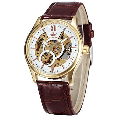 Ανδρικά Αθλητικό Ρολόι Ρολόι Φορέματος Μοδάτο Ρολόι Ρολόι Καρπού μηχανικό ρολόι Αυτόματο κούρδισμα Γνήσιο δέρμα Μπάντα Φυλαχτό Καθημερινά