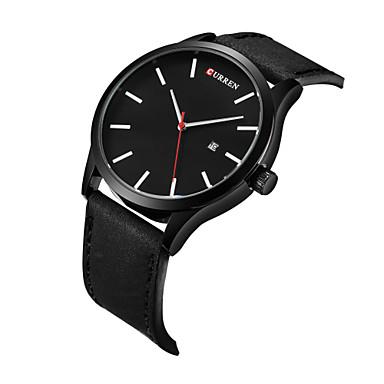 Erkek Bilek Saati Elbise Saat Moda Saat Spor Saat Quartz Takvim Gerçek Deri Bant İhtişam Günlük Çok-Renkli